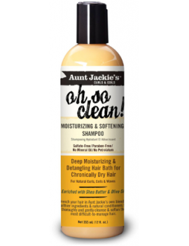 Shampoing hydratant et adoucissant Oh so clean Aunt Jackie's 355ml