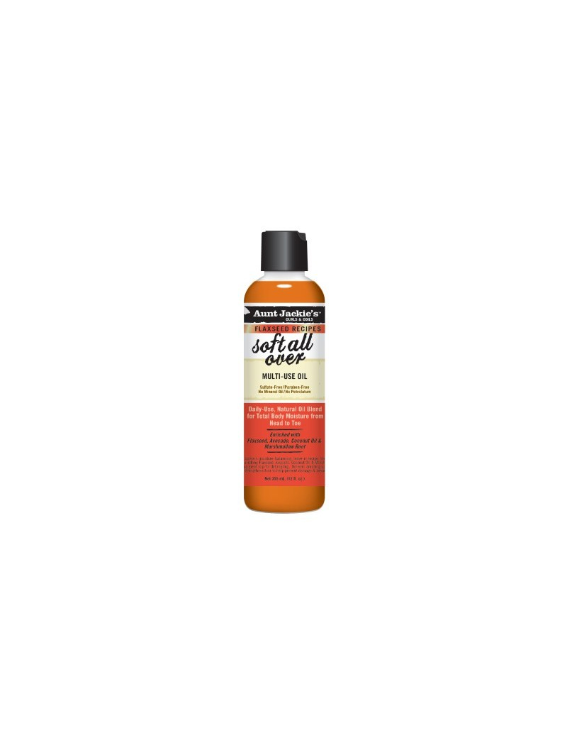 Soft all over huile multi usage Aunt Jackie's 237ml