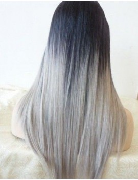 Perruque Lace wig Rianne GREY WHITE