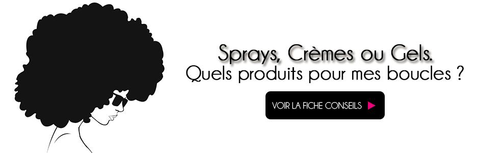 Sélection produits pour cheveux bouclés