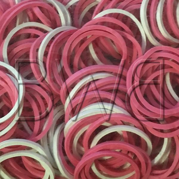 Elastiques roses et blancs