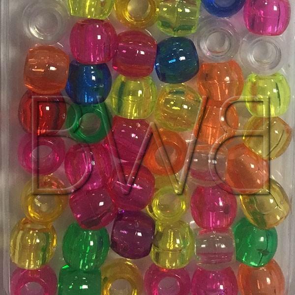 Perles Colorées Transparentes (grosses)