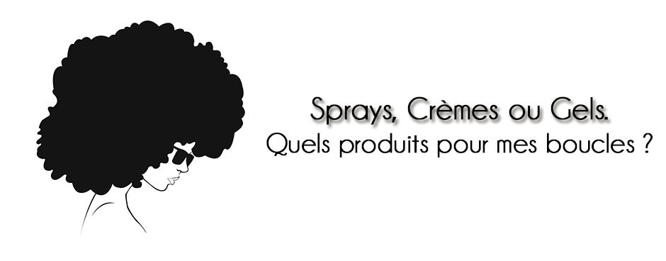 visuel sur les produits pour cheveux bouclés