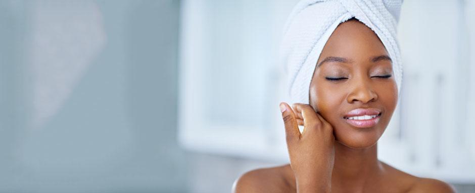 visuels sur les soins de peau